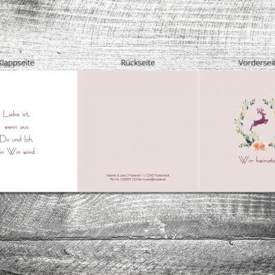 Hochzeit Hirschkranz lila | 6-Seitig | ab 1,90 €