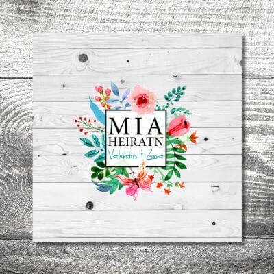 Hochzeit Blumenliebe | 6-Seitig