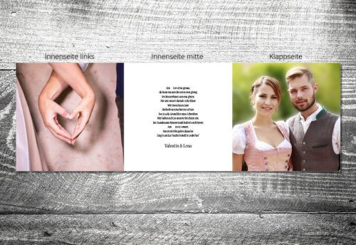 Hochzeit Holz Rustikal | 6-Seitig | ab 1,90 €