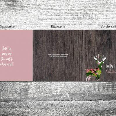 Hochzeit Blumenhirsch | 6-Seitig