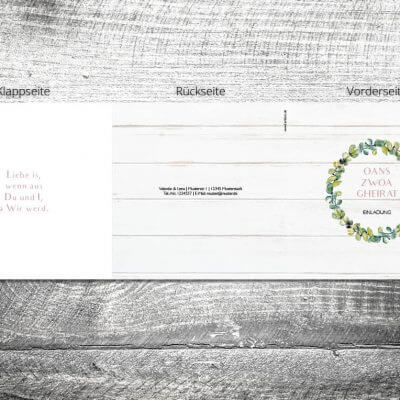 Hochzeit Bayrisches Vintage | 6-Seitig | ab 1,90 €