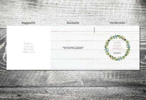Hochzeit Bayrisches Vintage   6-Seitig   ab 1,90 €