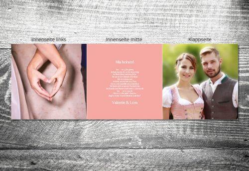 Hochzeit Romantik Rosa | 6-Seitig | ab 1,90 €