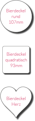 kartlerei bierdeckel formate - Bierdeckel ABC