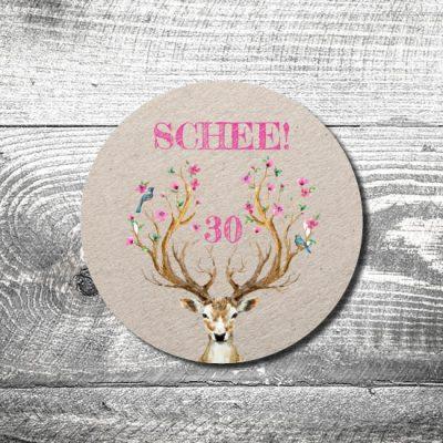 Bierdeckel Hirsch Schee