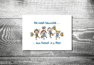 kartlerei bayrische einladung geburtstagseinladung bierfreunde 400x275 - Geburtstagseinladung auf Bayrisch