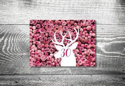 kartlerei bayrische einladung geburtstagseinladung hirsch rosenbett 400x275 - Geburtstagseinladung auf Bayrisch