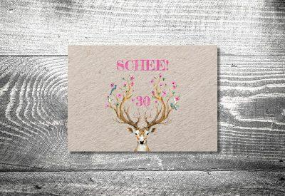 kartlerei bayrische einladung geburtstagseinladung hirsch schee 400x275 - Geburtstagseinladung auf Bayrisch