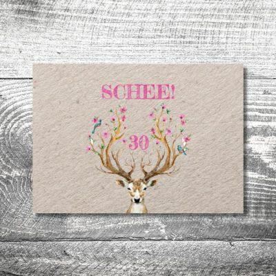 Hirsch Schee | 2-Seitig | ab 0,70 €