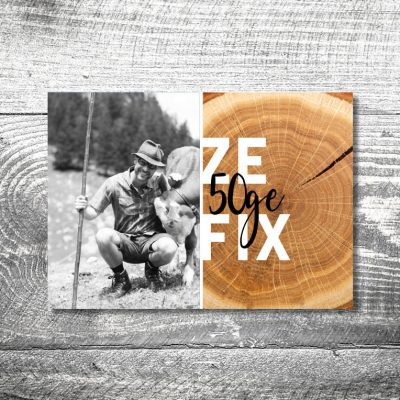 Zefix Baumstamm | 2-Seitig | ab 0,70 €