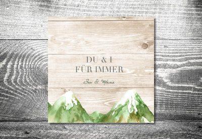 kartlerei bayrische hochzeitseinladung hochzeitspapeterie neuheit bergliebe sommer 400x275 - Heiraten in den Bergen