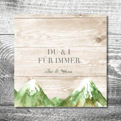 Hochzeit Bergliebe Sommer | 6-Seitig