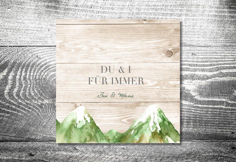 kartlerei bayrische hochzeitseinladung hochzeitspapeterie neuheit bergliebe sommer - Heimatgefühl