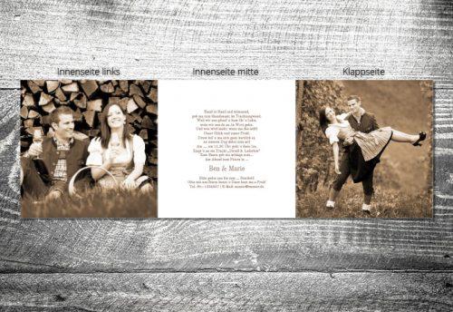 Hochzeit Blumenhirscherl | 6-Seitig