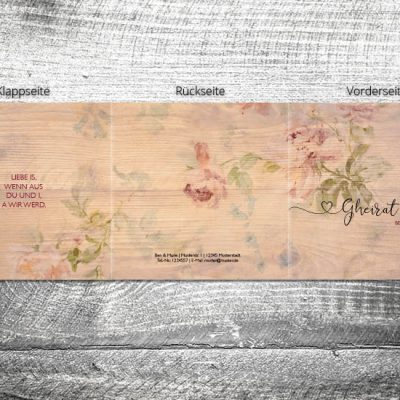 Hochzeit Floralholz | 6-Seitig