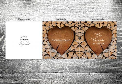 Hochzeit Herzchenstapel | 6-Seitig
