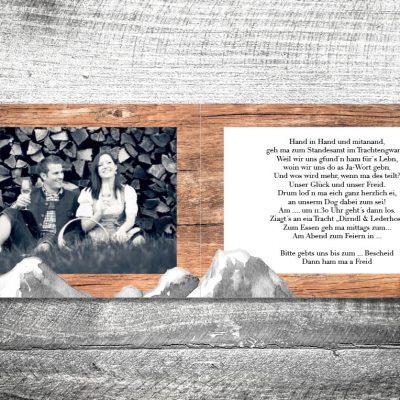 Hochzeit Bergliebe | 4-Seitig