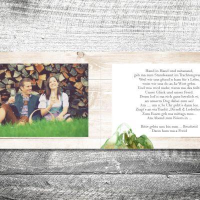 Hochzeit Bergliebe Sommer | 4-Seitig