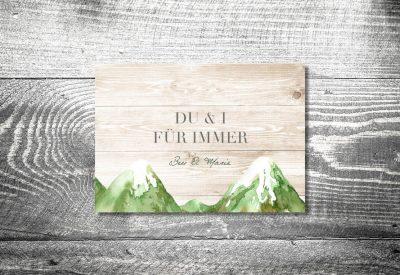 kartlerei einladung hochzeit bayrisch hochzeitseinladung bayrische hochzeitspapeterie bergliebe sommer einladung 400x275 - Heiraten in den Bergen