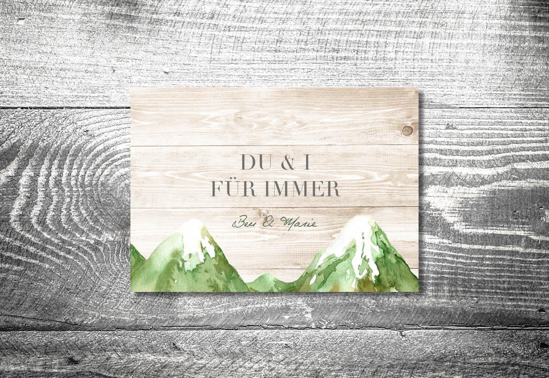 kartlerei einladung hochzeit bayrisch hochzeitseinladung bayrische hochzeitspapeterie bergliebe sommer einladung - Hochzeitskarten Set