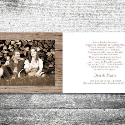Hochzeit Blumenhirscherl | 4-Seitig