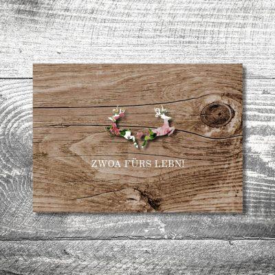 Hochzeit Blumenhirscherl | 2-Seitig