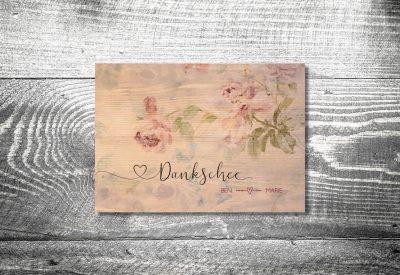 kartlerei einladung hochzeit bayrisch hochzeitseinladung bayrische hochzeitspapeterie floralholz dankeskarte 400x275 - Dankeskarte mit Fotostreifen