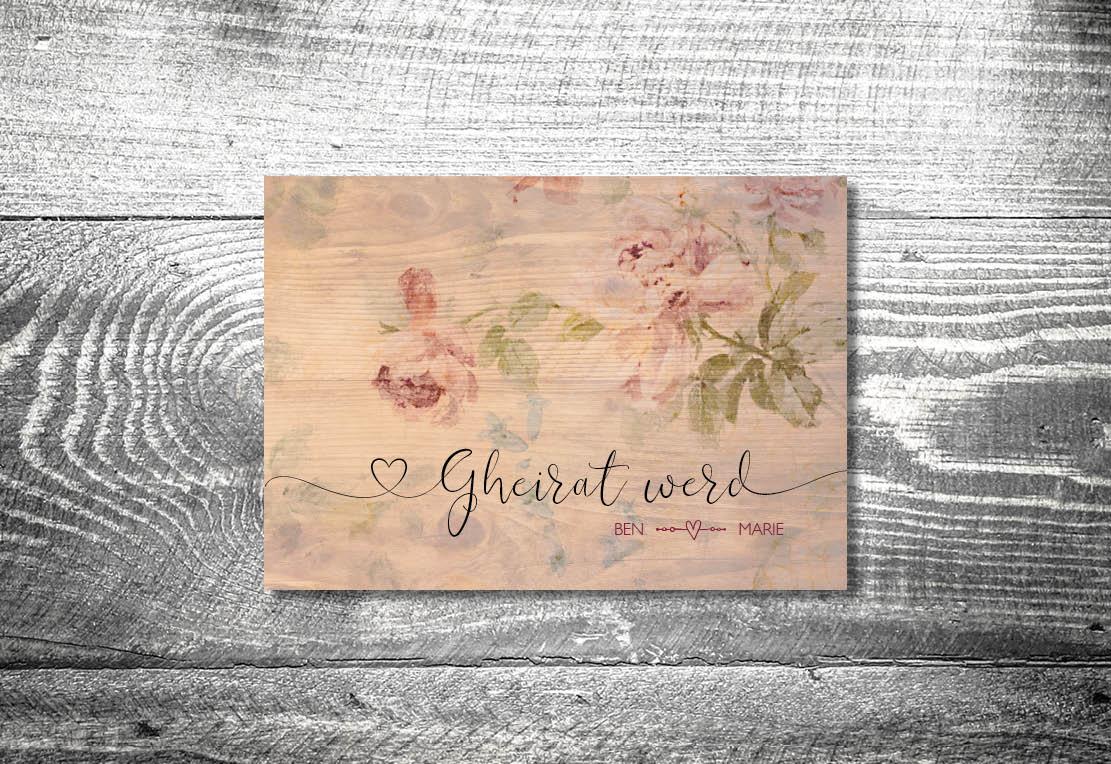 kartlerei einladung hochzeit bayrisch hochzeitseinladung bayrische hochzeitspapeterie floralholz einladung - Hochzeitskarten Set