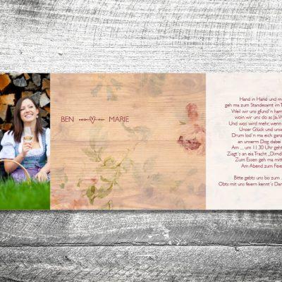 Hochzeit Floralholz | 4-Seitig