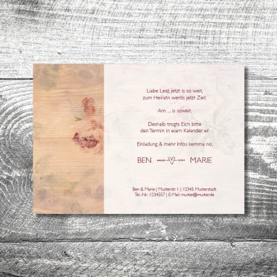 Save the Date Floralholz
