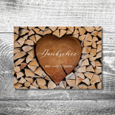 Danke Herzchenstapel | 4-Seitig