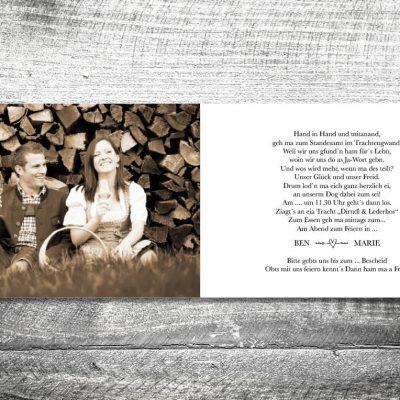 Hochzeit Herzchenstapel | 4-Seitig