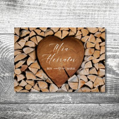 Hochzeit Herzchenstapel | 2-Seitig