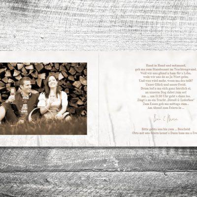Hochzeit Zwoa Herzerl | 4-Seitig