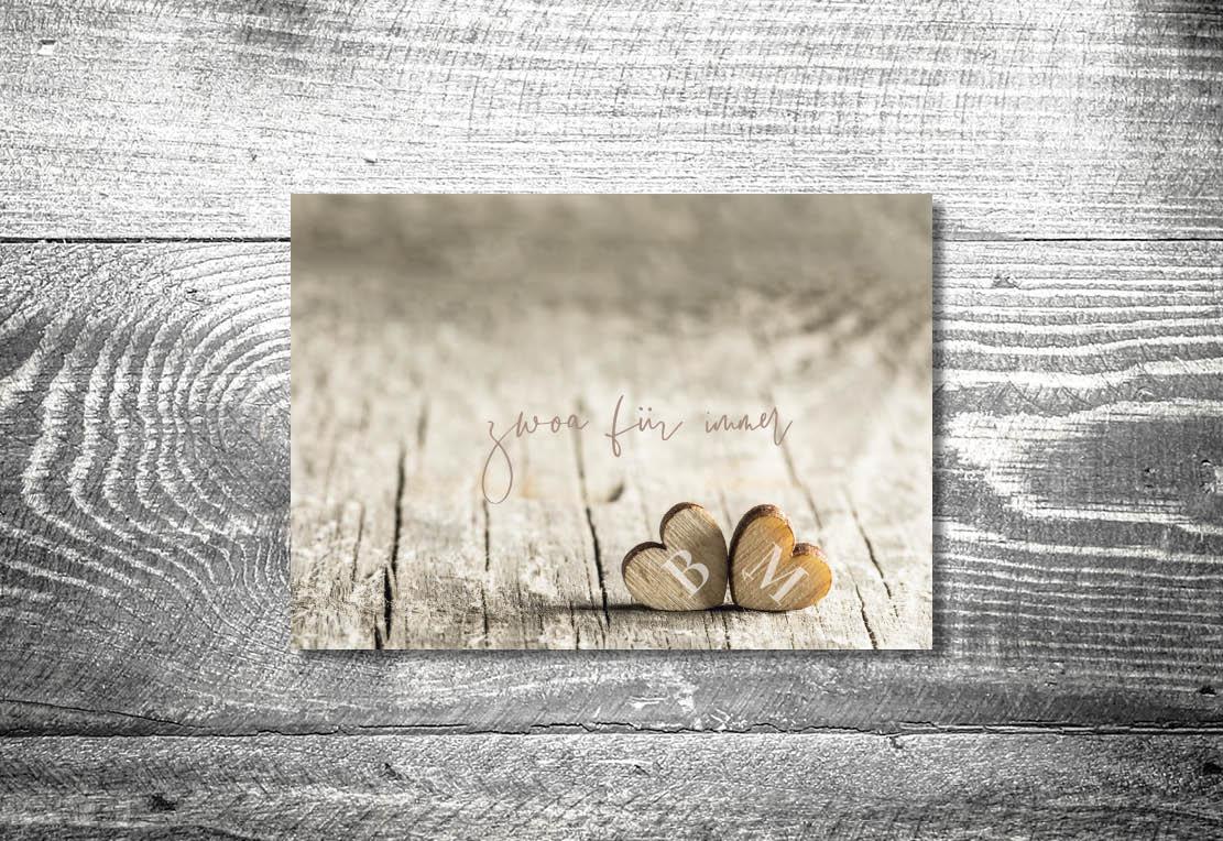 kartlerei einladung hochzeit bayrisch hochzeitseinladung bayrische hochzeitspapeterie zwoa herzerl einladung - Hochzeitskarten Set