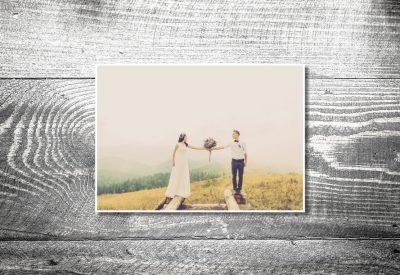 kartlerei hochzeit bayrische hochzeitspapeterie dankeskarte 400x275 - Dankeskarte mit Fotostreifen