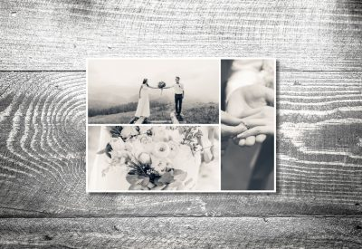 kartlerei hochzeit bayrische hochzeitspapeterie dankeskarte4 400x275 - Dankeskarte mit Fotostreifen