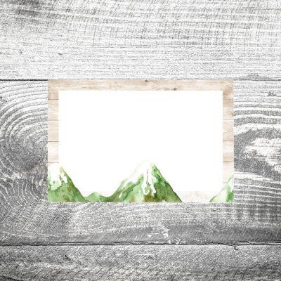 Tischkarte Bergliebe Sommer
