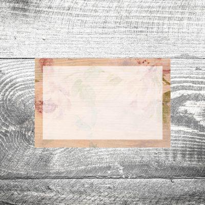 Tischkarte Floralholz