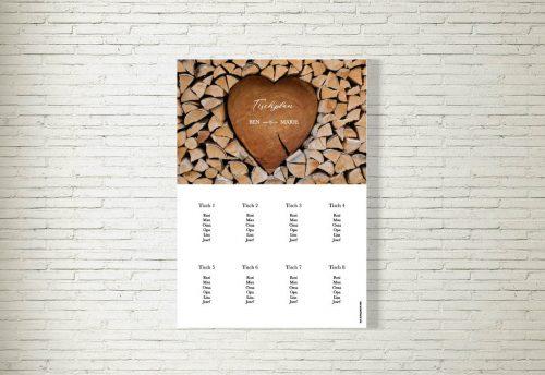 Tischplan Hochzeit Herzchenstapel