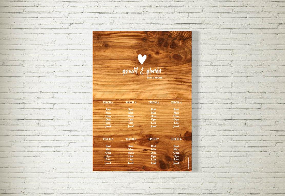 kartlerei hochzeit tischplan bayrische papeterie6 - Hochzeitskarten Set – Alles muss perfekt sein!
