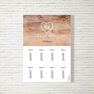 Tischplan Hochzeit Tracht