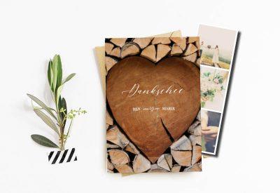 kartlerei dankeskarte fotostreifen danke hochzeit 400x275 - kartlerei Magazin