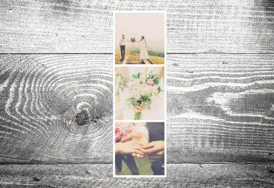 kartlerei dankeskarte fotostreifen hoch 400x275 - Dankeskarte mit Fotostreifen
