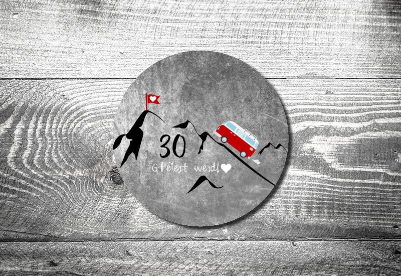 kartlerei bayrische einladungskarten bierdeckel geburtstagseinladung busliebe retrobus foto rosi - Foto Rosi Retro Fotobox