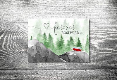 kartlerei bayrische einladungskarten geburtstagseinladung busliebe retrobus foto rosi II 400x275 - Geburtstagseinladung auf Bayrisch