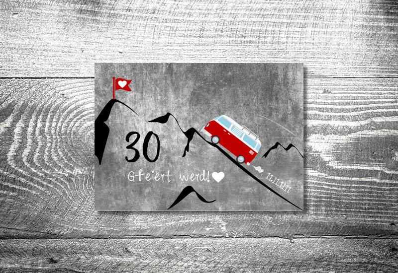 kartlerei bayrische einladungskarten geburtstagseinladung busliebe retrobus foto rosi - Foto Rosi Retro Fotobox
