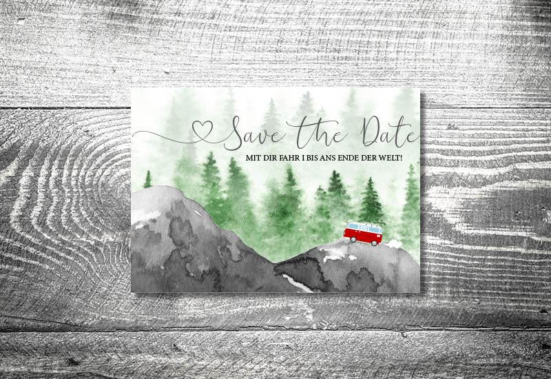 kartlerei bayrische hochzeitseinladung liebe foto rosi II einladungskarte save the date - Hochzeitskarten