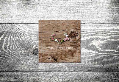 kartlerei bayrische dankeskarten hochzeit leporello klappkarte blumenhirscherl 400x275 - Dankeskarte mit Fotostreifen