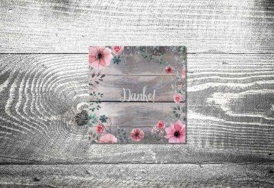 kartlerei bayrische dankeskarten hochzeit leporello klappkarte blumenholz 400x275 - Dankeskarte mit Fotostreifen